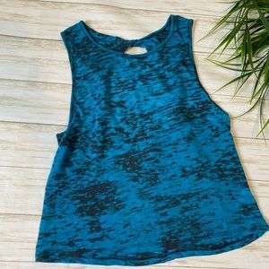 Liberty love twisted back tank turquoise medium